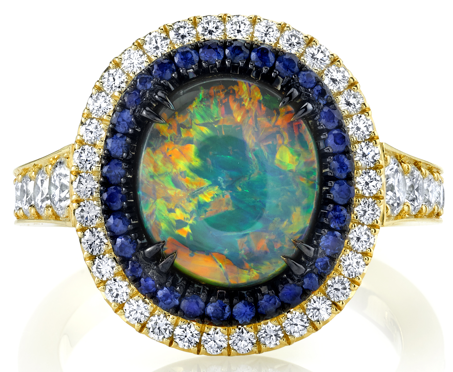 Omi Privé black opal Duet ring| JCK On Your Market