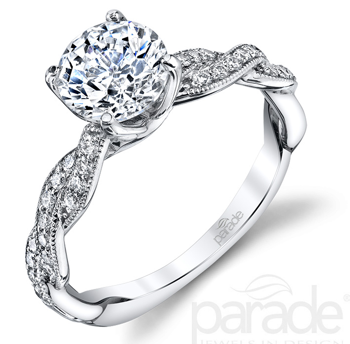 Parade Design twisted band diamond engagement ring | JCK Supplier News