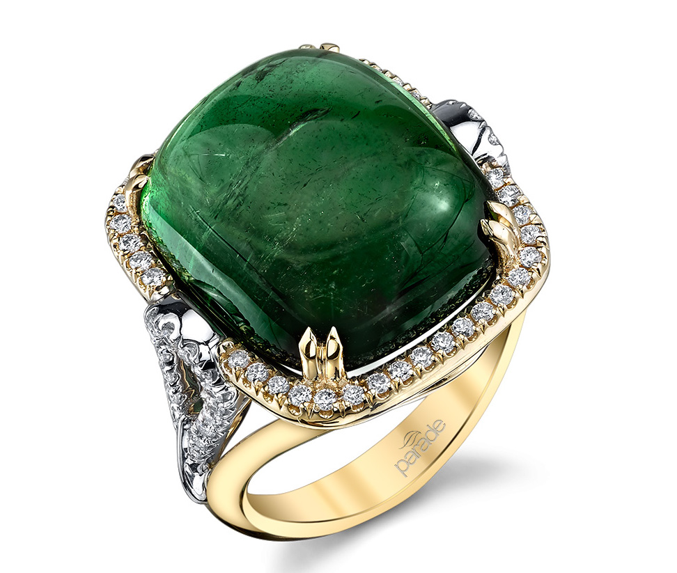 Parade in Color green tourmaline cabochon ring | JCK On Your Market