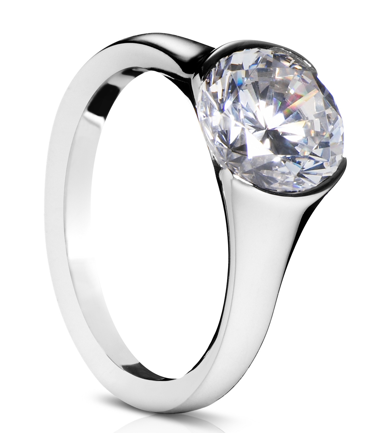 Sholdt half bezel diamond engagement ring | JCK On Your Market