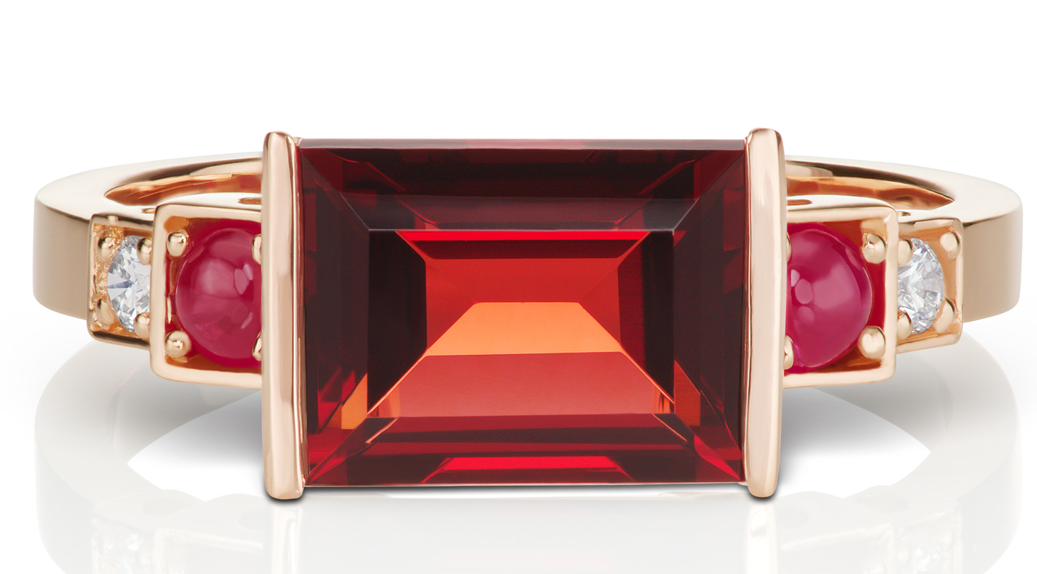 Jane Taylor Jewelry vintage-inspired red garnet ring | JCK On Your Market