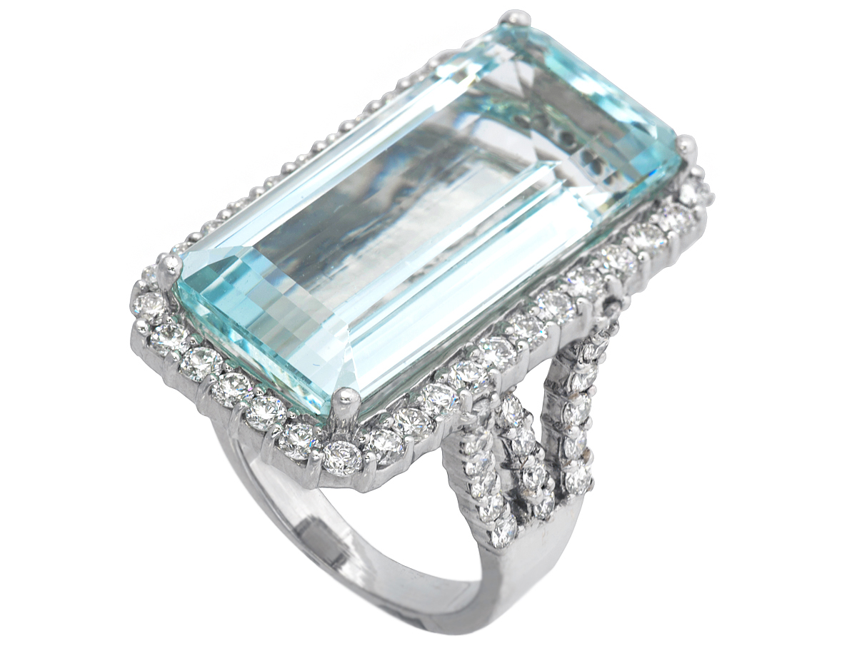 Jye Luxury Collection aquamarine ring | JCK On Your Market