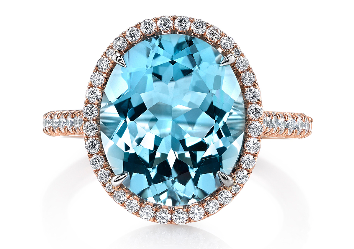 Omi Prive aquamarine and diamond ring | JCK On Your Market