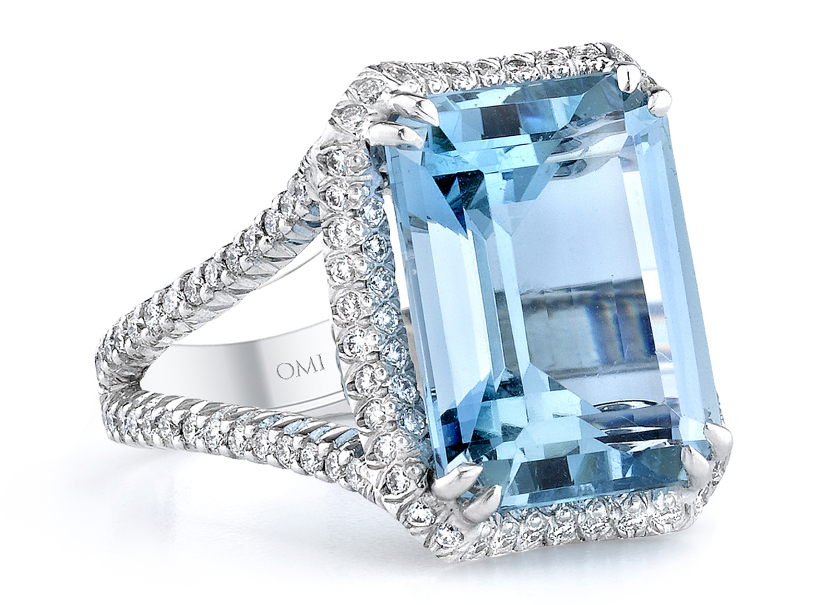 Omi Privé Serenity aquamarine ring | JCK On Your Market