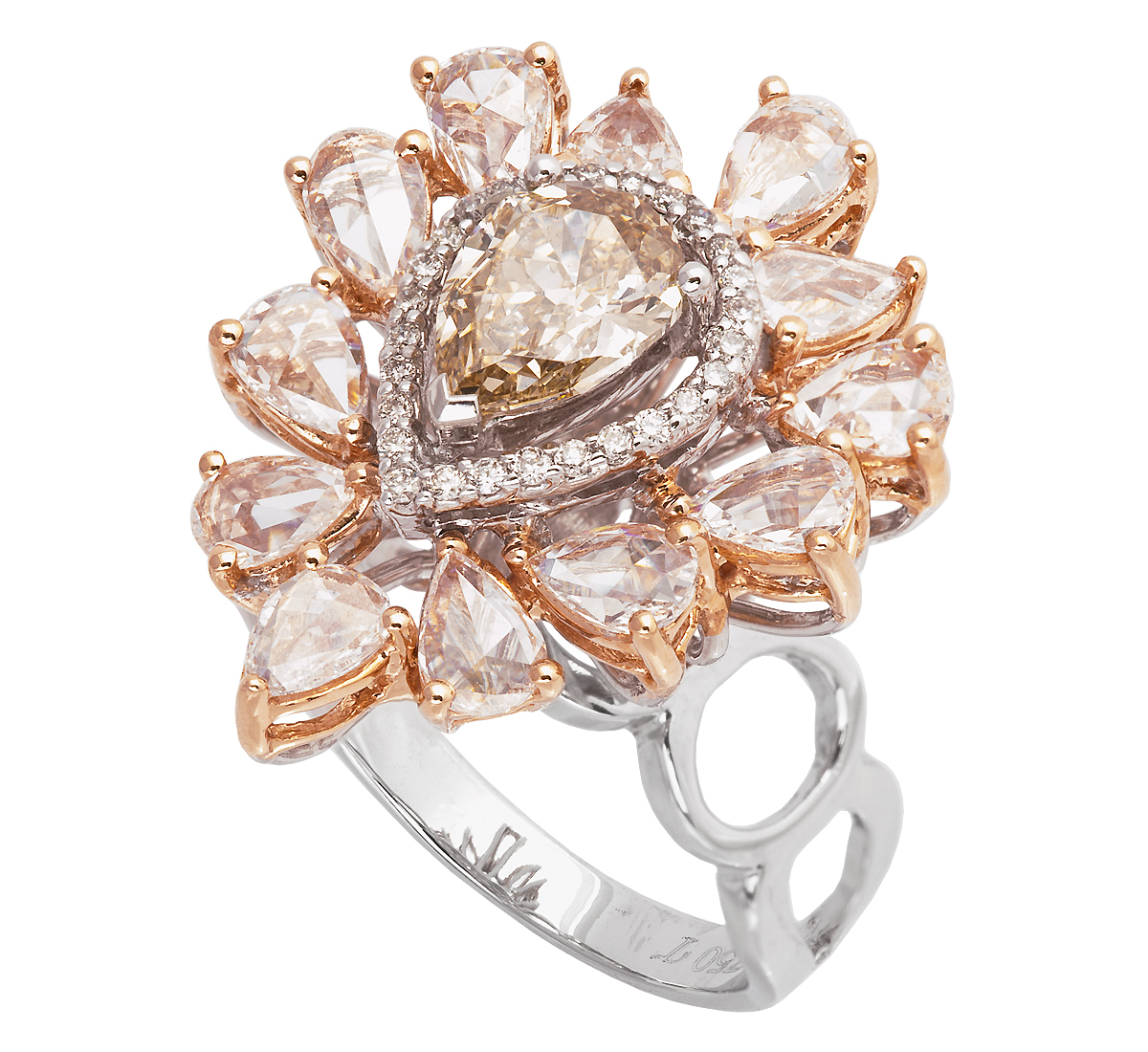 Jye Luxury pear-shape brown diamond ring | JCK On Your Market