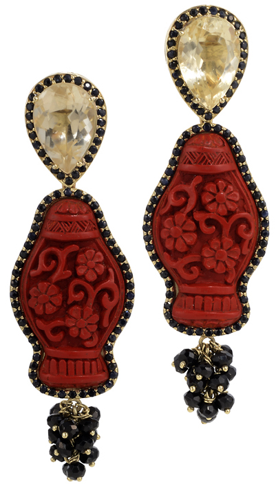 Graziela Gems carved coral earrings | JCK On Your Market
