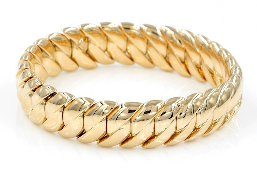 Rina Limor yellow gold stretch bracelet | JCK On Your Market