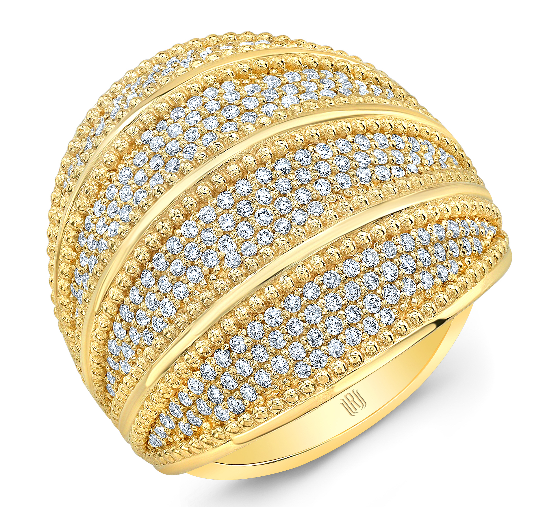 Rahaminov golden diamond dome ring | JCK On Your Market