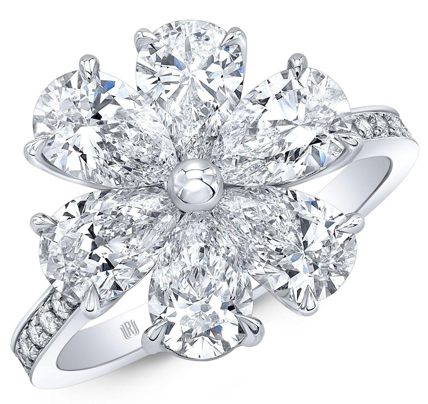 Rahaminov diamond flower ring | JCK On Your Market