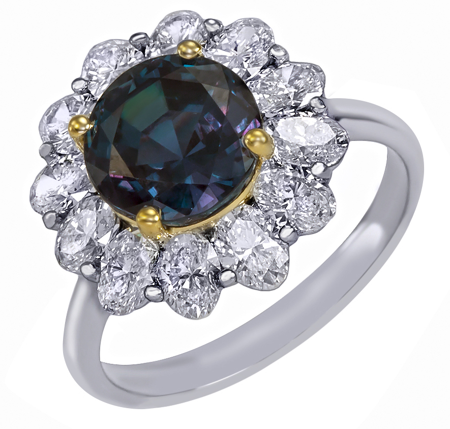 Mark Henry alexandrite cluster halo ring | JCK On Your Market