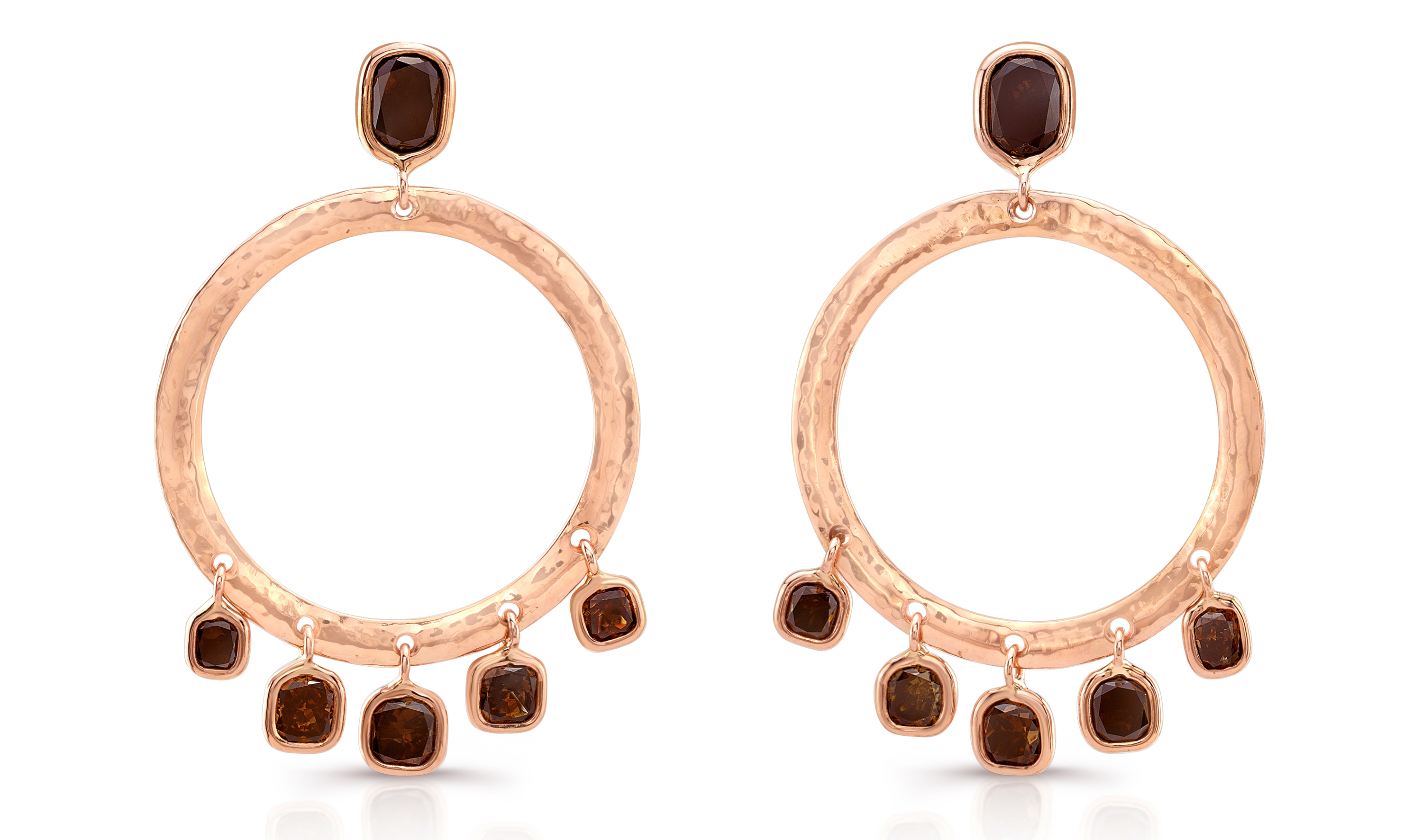 Dorian and Rose cognac diamond earrings | JCK On Your Market