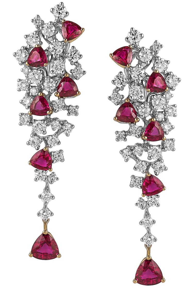 Akiva Gil ruby drizzle earrings | JCK On Your Market