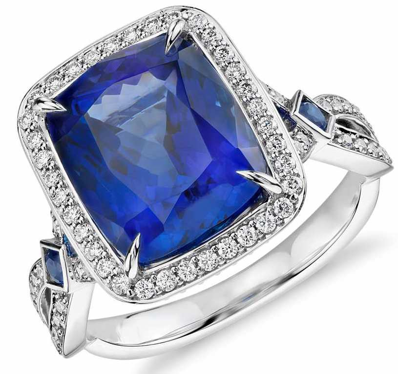 Akiva Gil cushion tanzanite ring #BRITTSPICK | JCK On Your Market