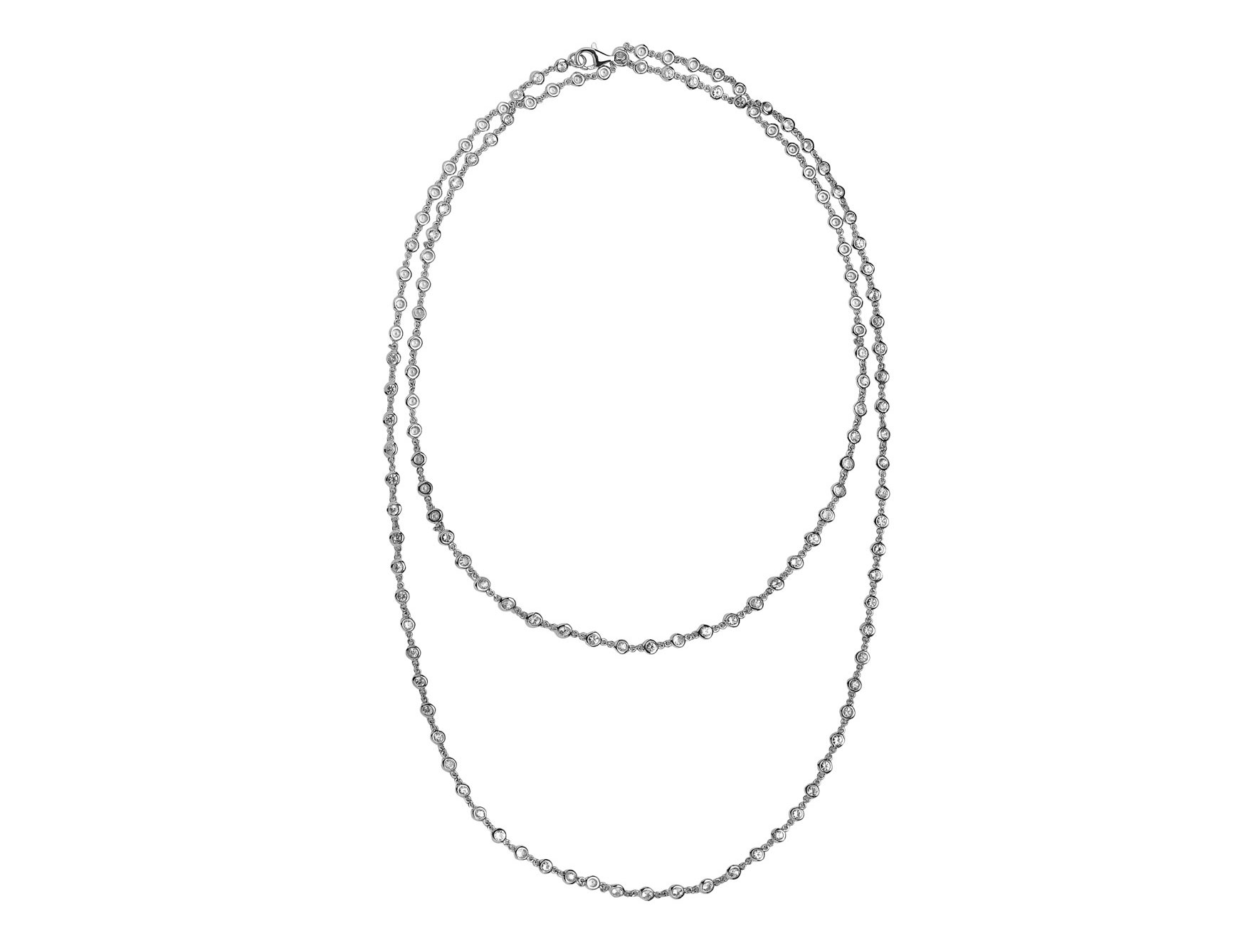 Dilamani white sapphire long necklace | JCK On Your Market
