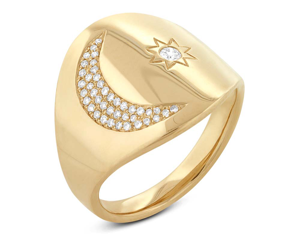 Shy Creation moon and star ring | JCK On Your Market