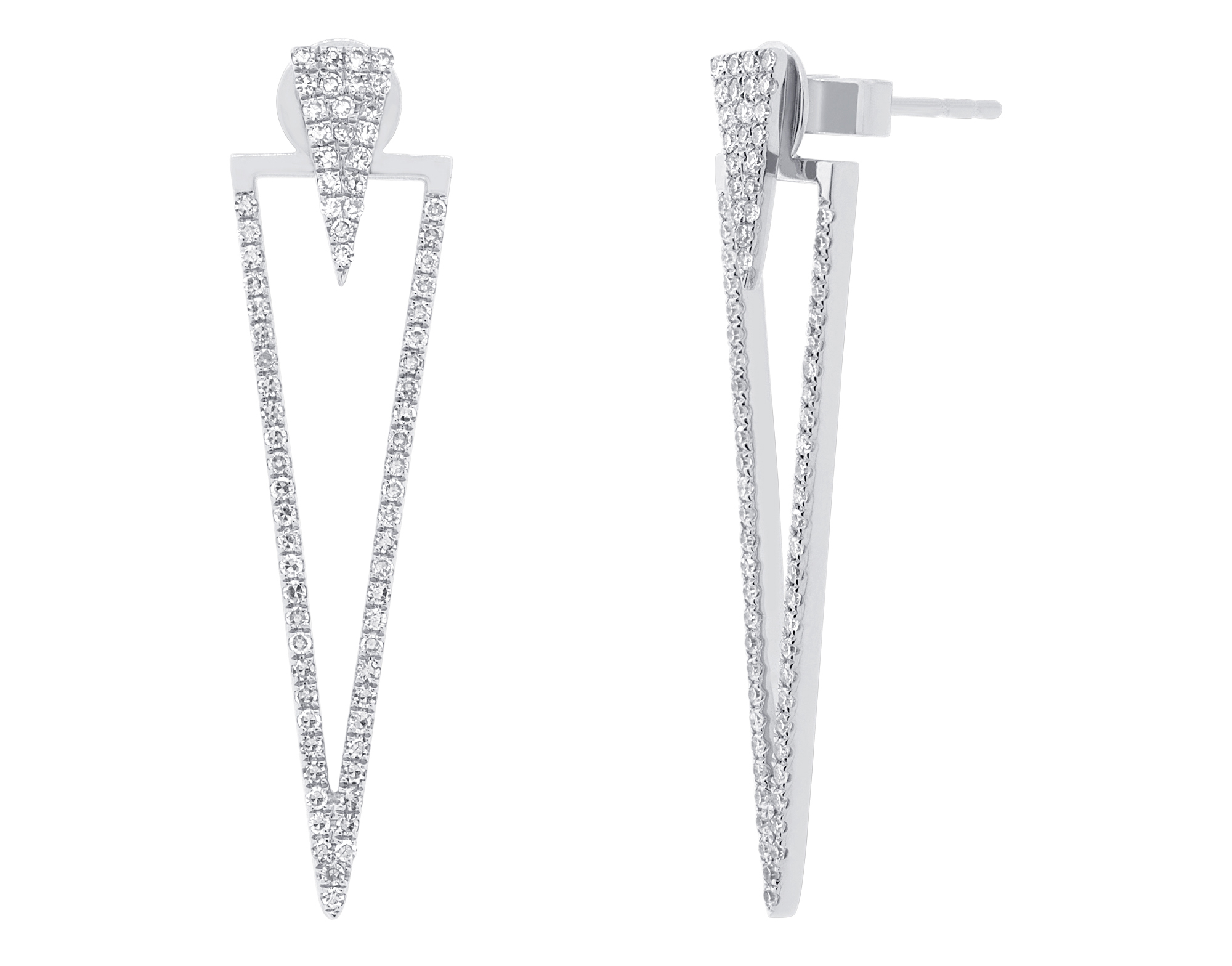 Shy Creation triangle diamond earring jackets | JCK On Your Market