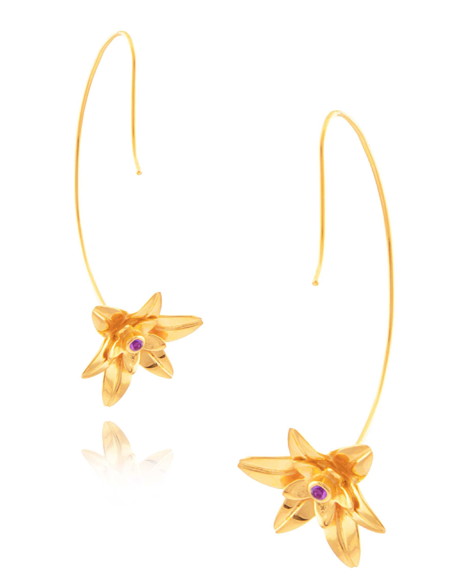 Amrapali Golden Lily earrings | JCK On Your Market