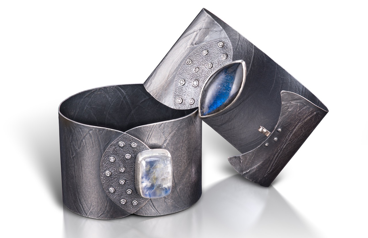 Ayesha Water cuffs with moonstone and labradorite | JCK On Your Market