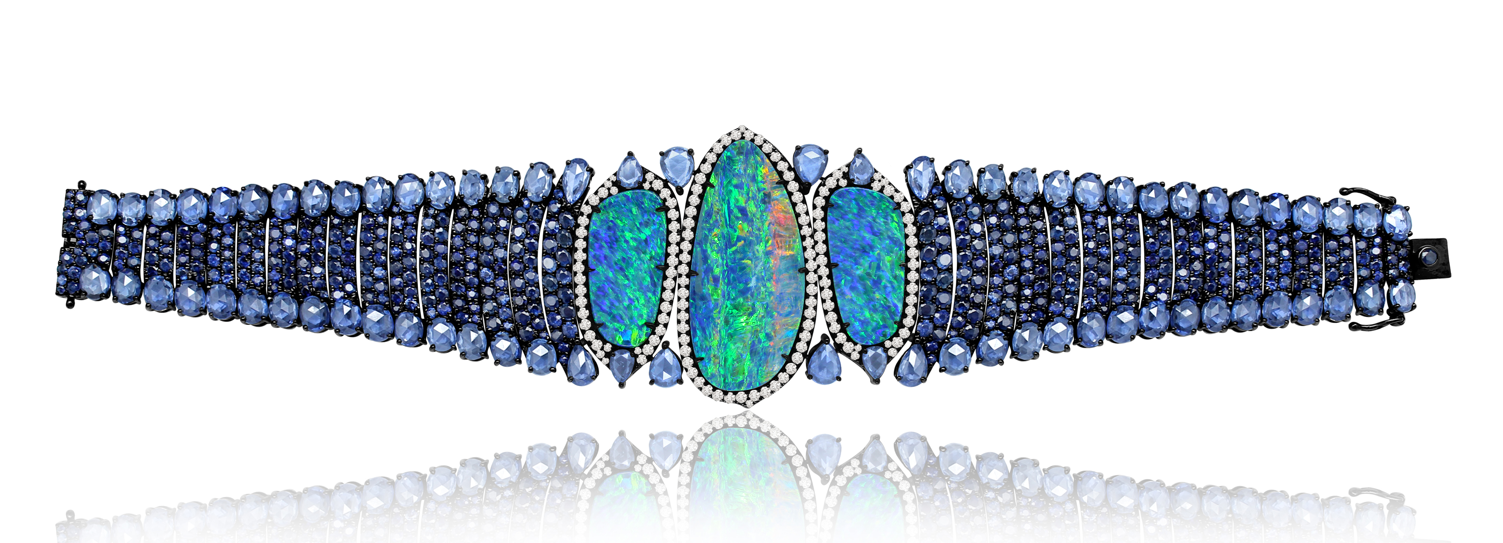 Sutra Couture collection opal and sapphire bracelet #BrittsPick | JCK On Your Market