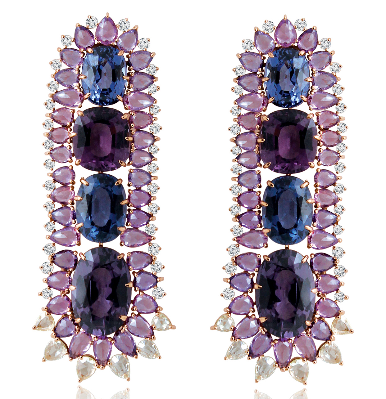Sutra purple spinel spie earrings | JCK On Your Market