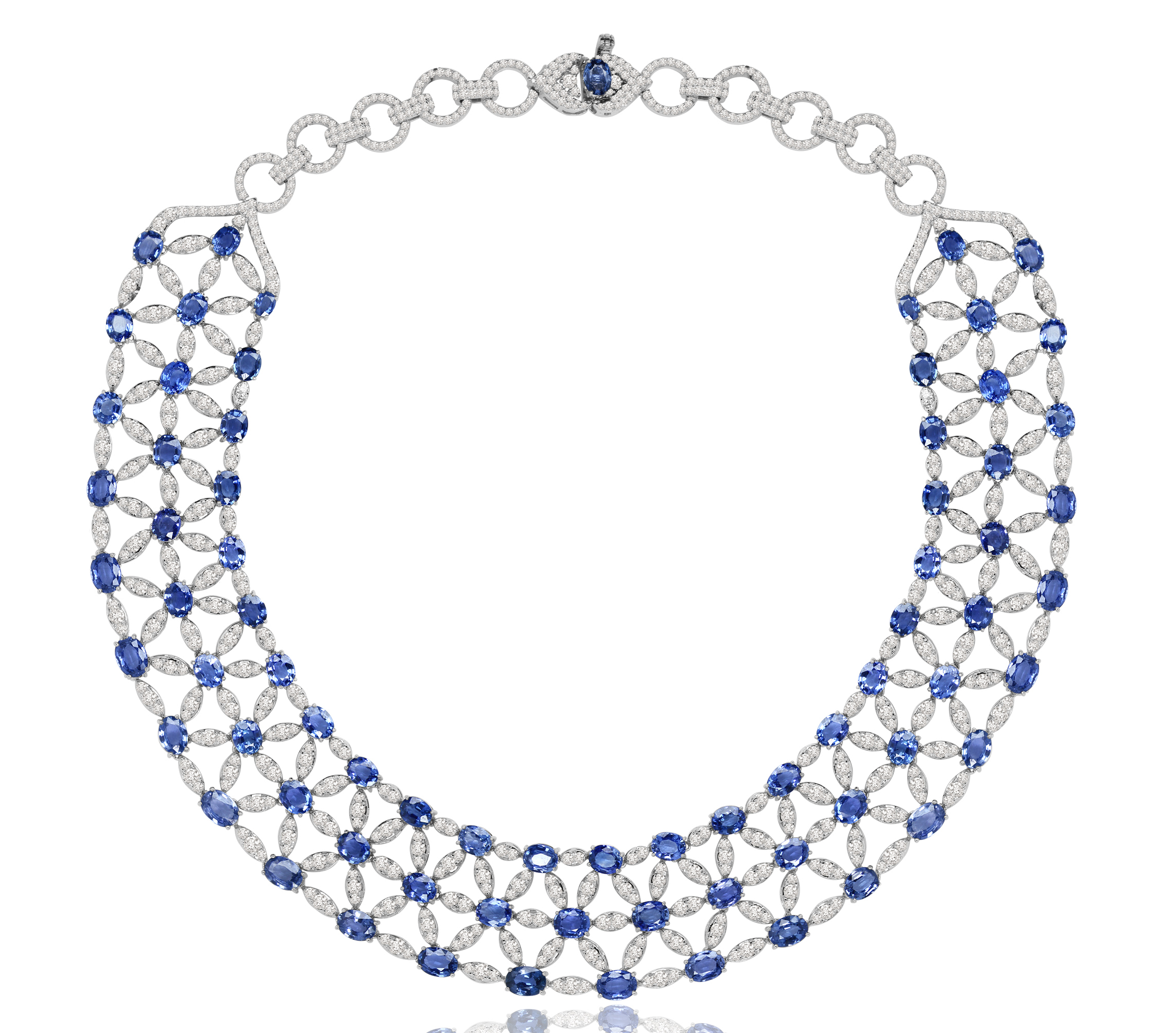 Sutra sapphire and diamond lace collar necklace | JCK On Your Market