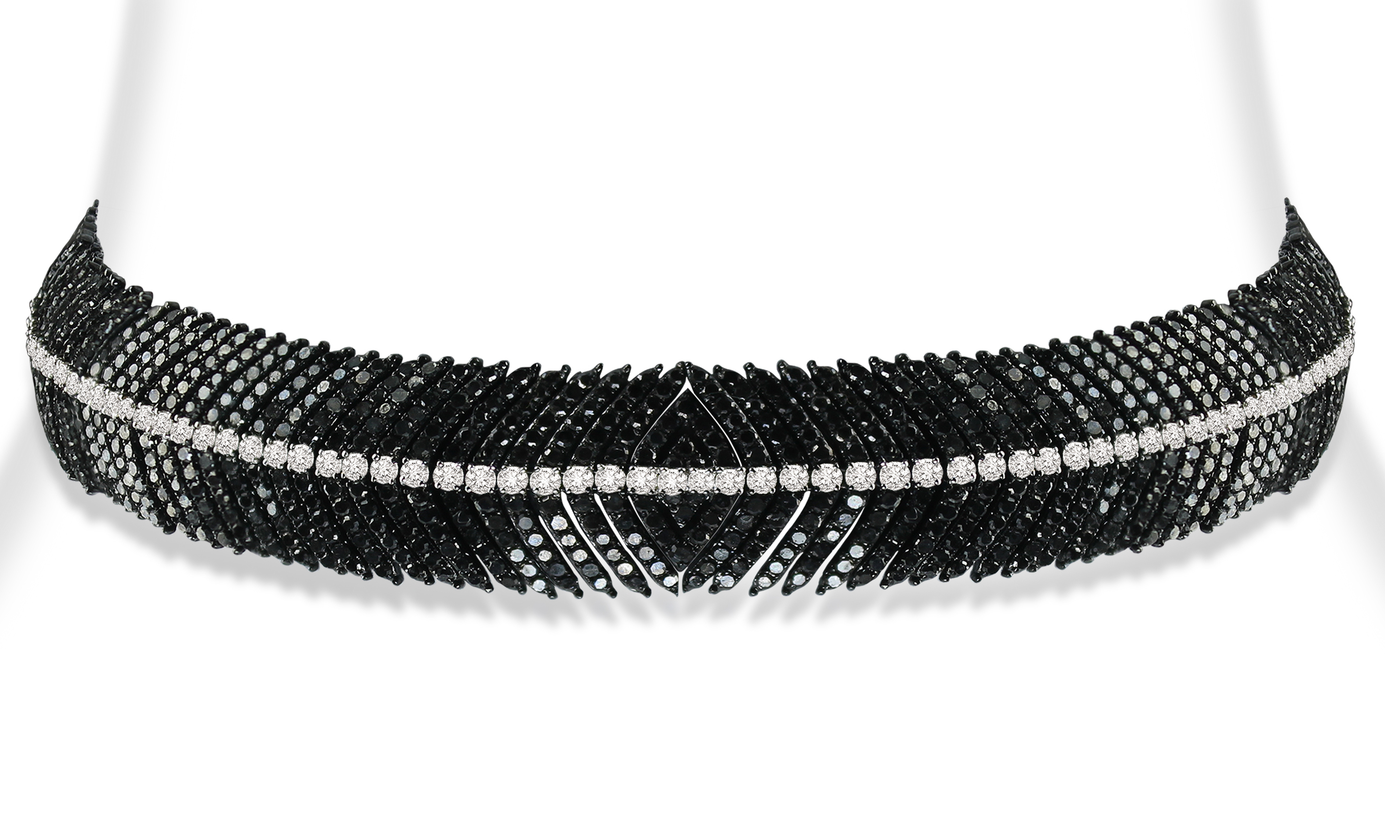 Sutra black and white diamond choker necklace | JCK On Your Market