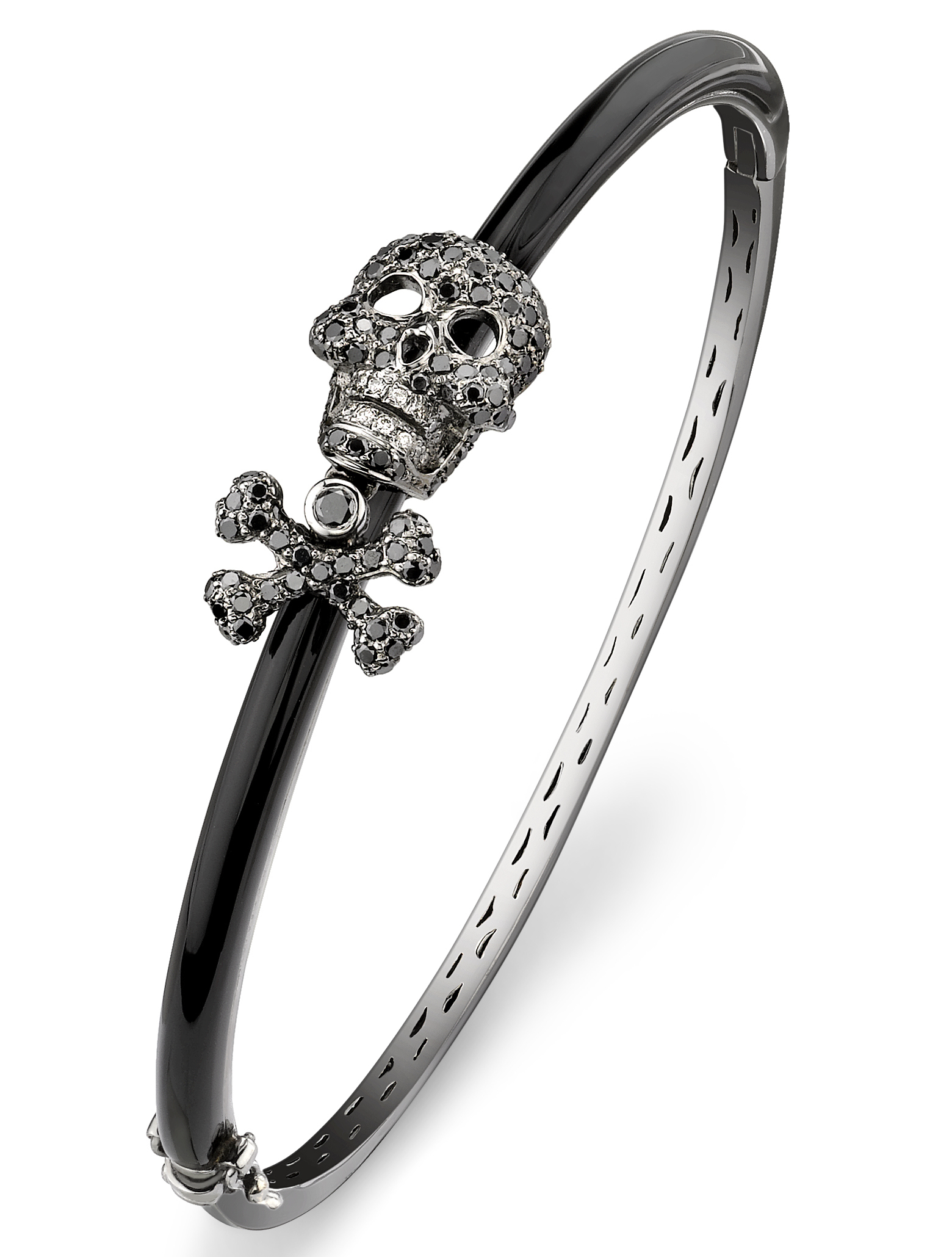 Borgioni skull and crossbones ebony bangle | JCK On Your Market
