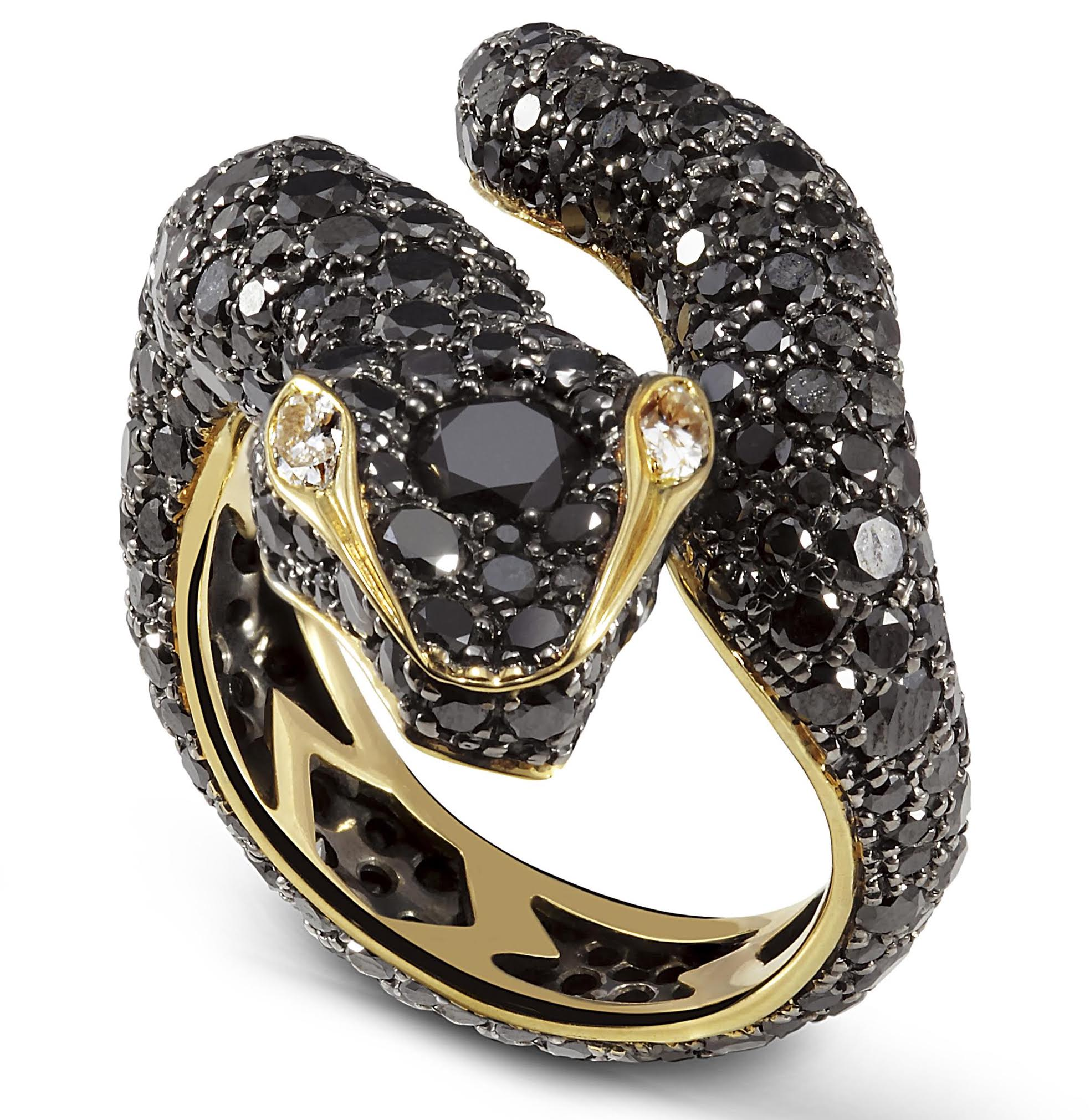 NOL Jewellers black diamond snake ring | JCK On Your Market