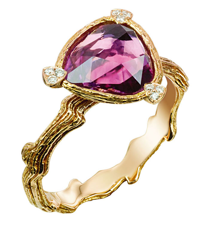 Isabelle Langlois Paris Histoires Naturelles pink sapphire ring | JCK On Your Market
