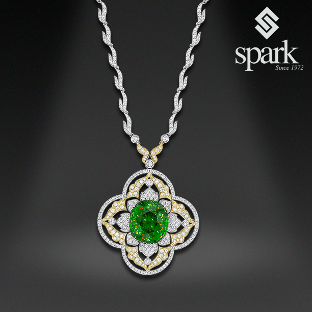 Spark Centurion-winning sphene and diamond pendant | Supplier News