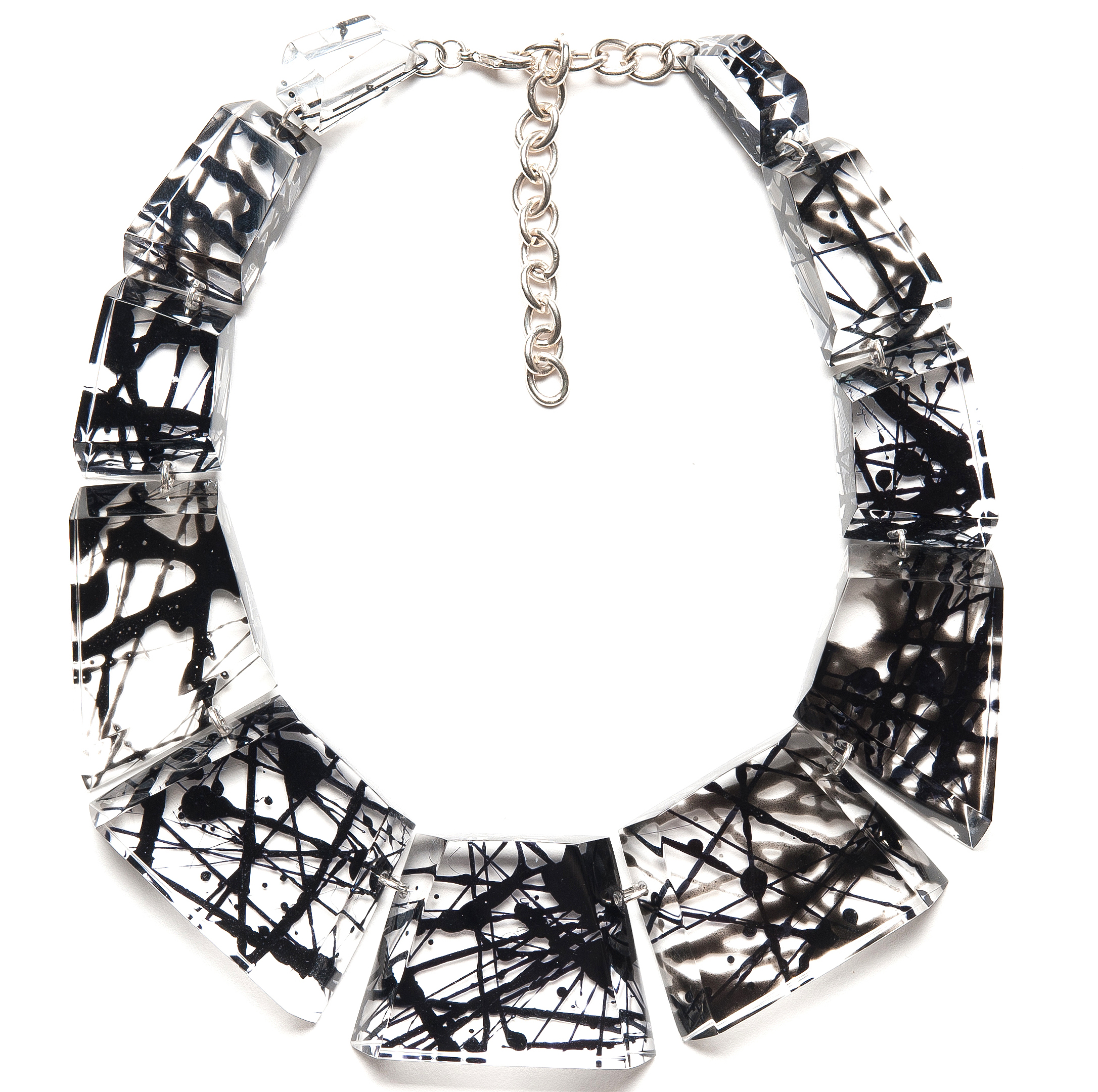 Laurent Guillot Strier Black lucite necklace