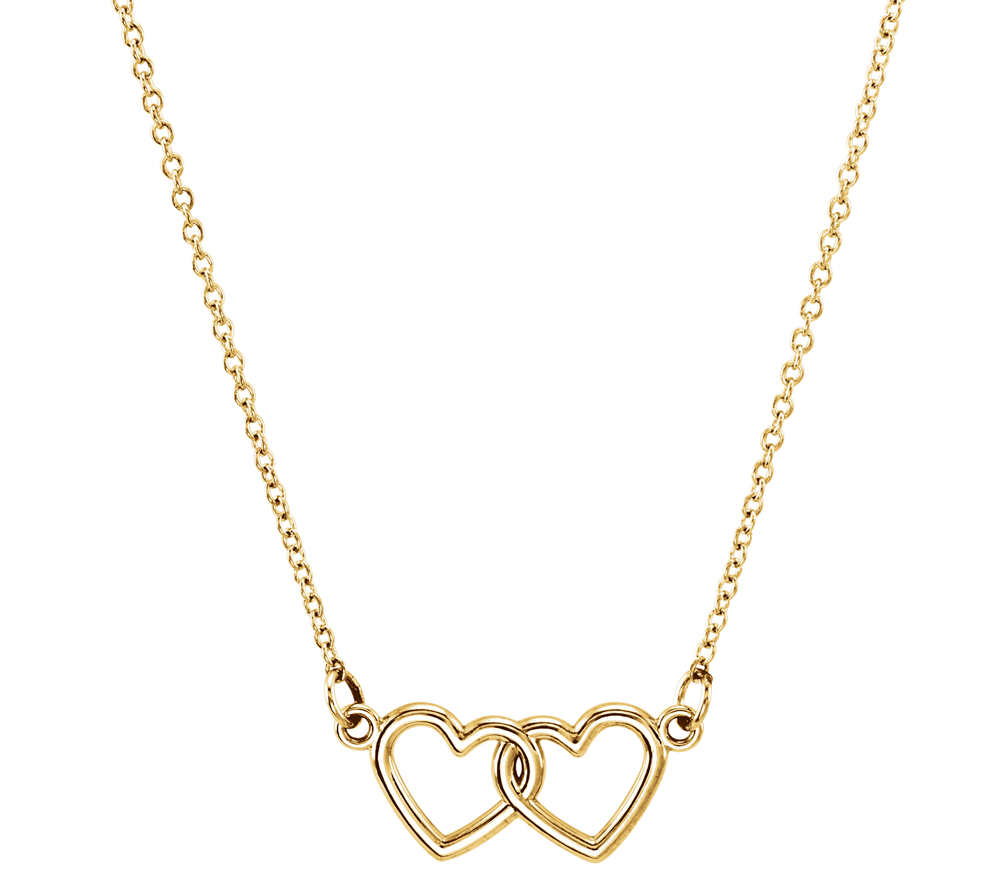 Stuller double heart necklace | JCK On Your Market