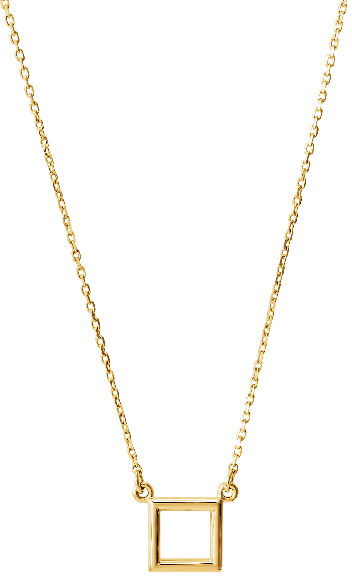 Stuller open square necklace | JCK On Your Market
