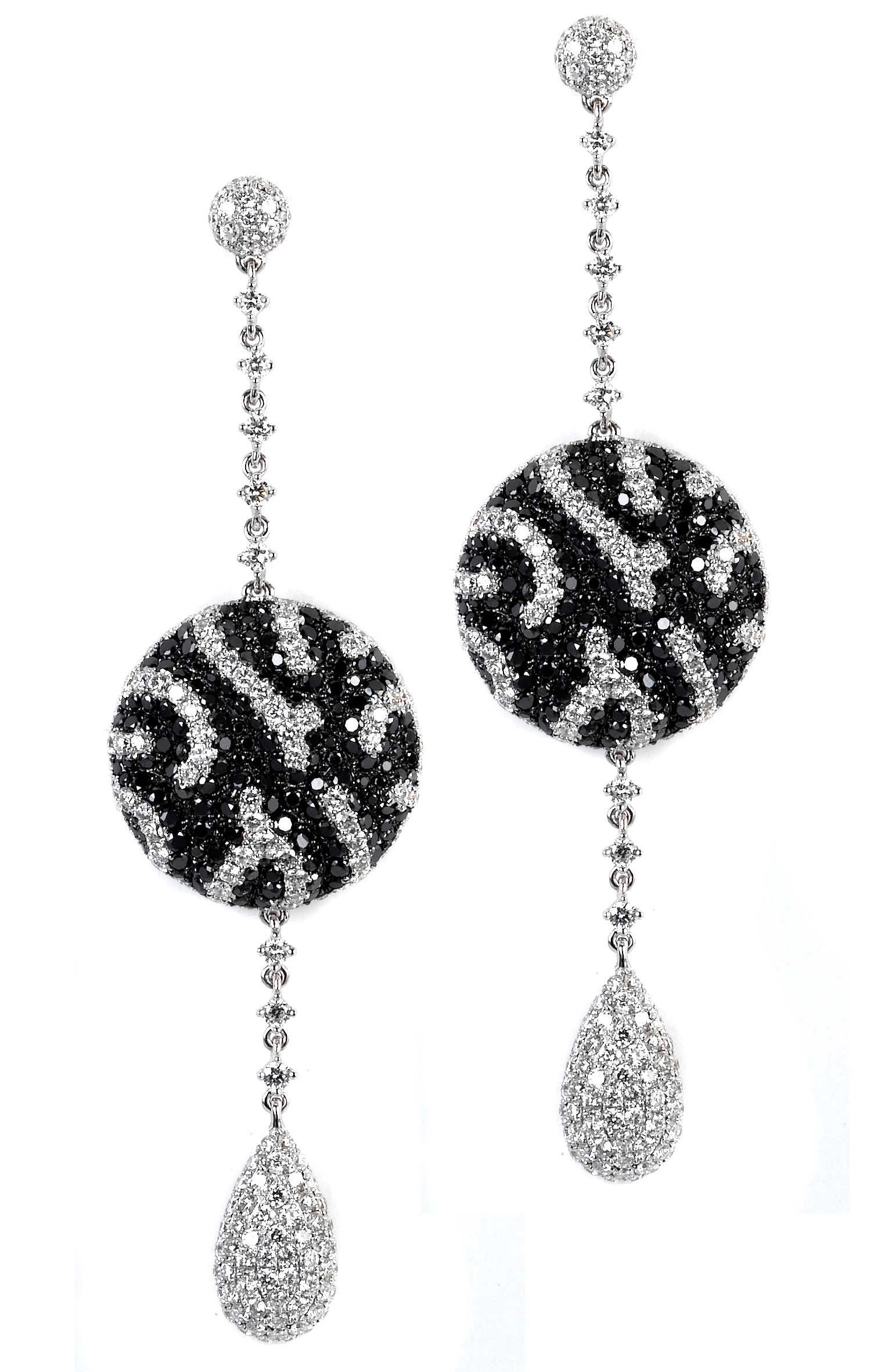 Supreme Jewelry black and white ball drop earrings | JCK On Your Market