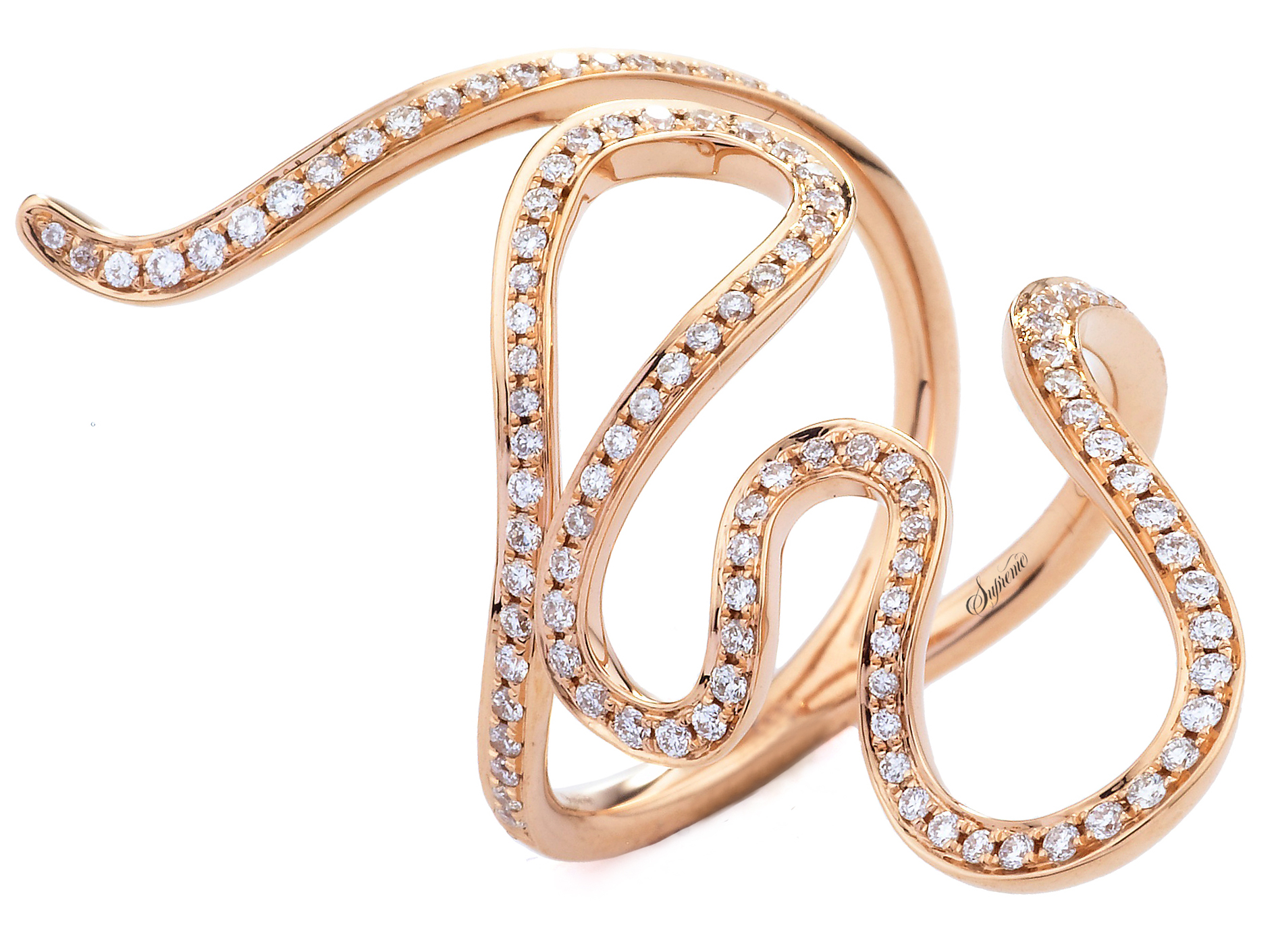 Supreme Jewelry diamond snake ring | JCK On Your Market