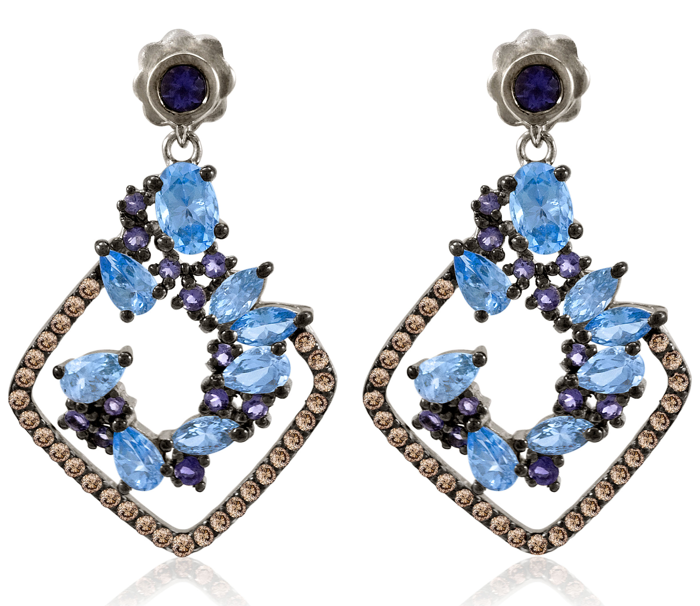 Le Vian Ocean Blue Topaz drop earrings | JCK On Your Market