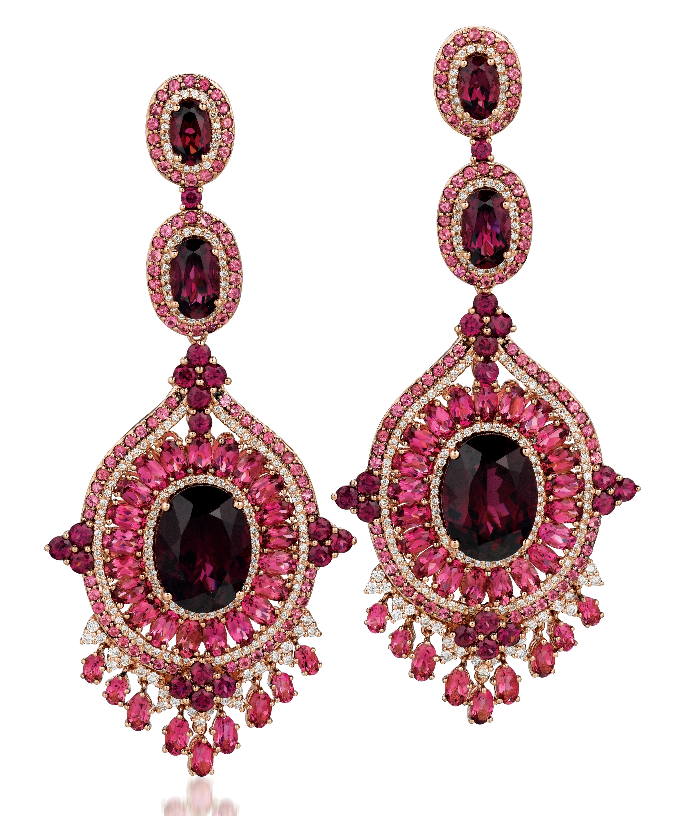 Le Vian Red Carpet Raspberry Rhodolite earrings | JCK On Your Market