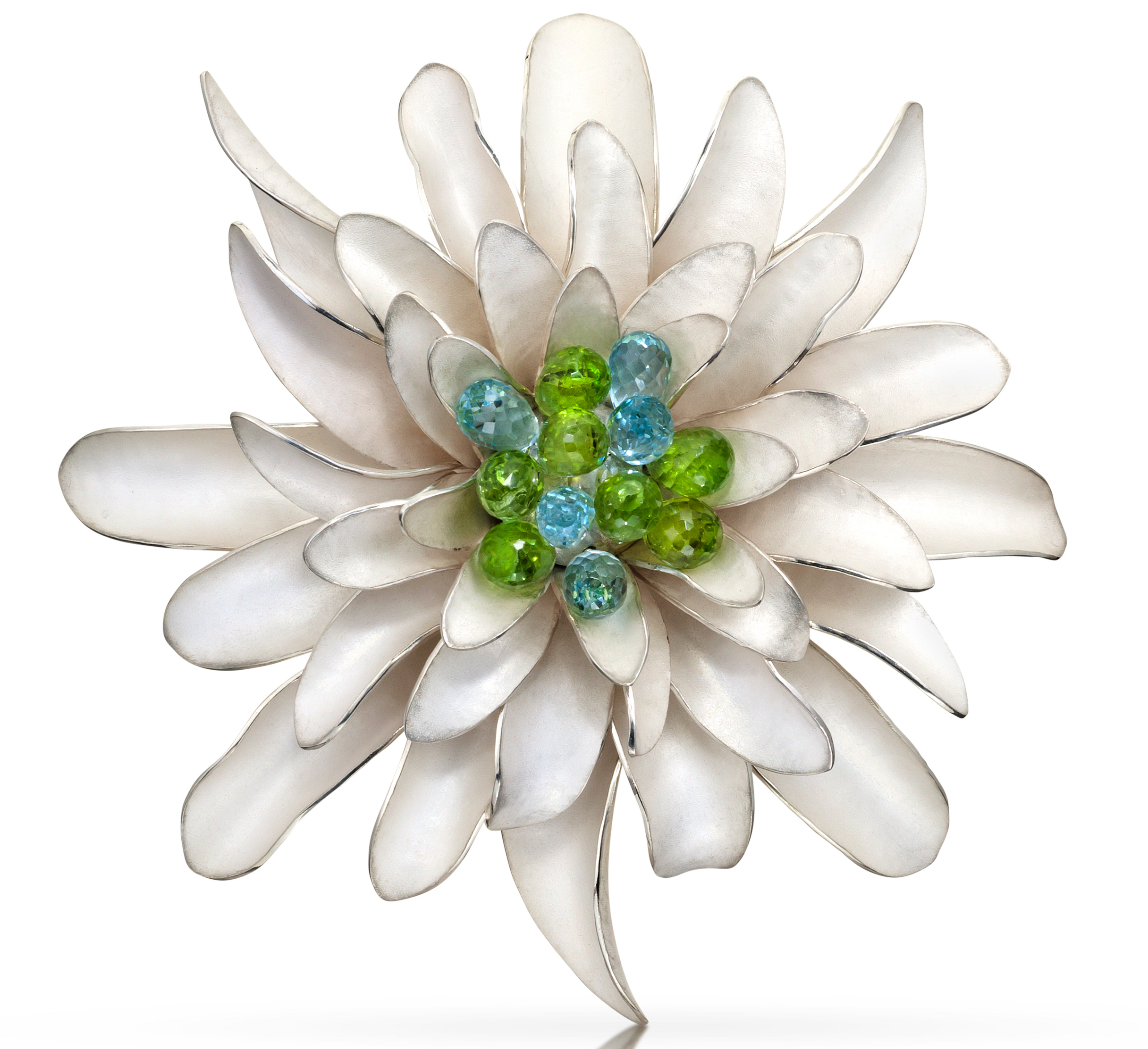 TK Metal Arts Dahlia brooch/pendant | JCK On Your Market