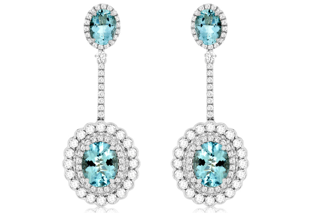 Royal Jewelry aquamarine and diamond earrings | JCK On Your Market
