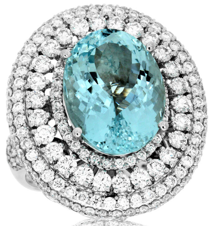 Royal Jewelry aquamarine cocktail ring | JCK On Your Market