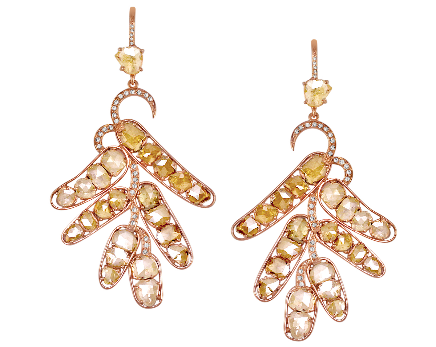 Vivaan rose-cut diamond branch earrings | JCK On Your Market