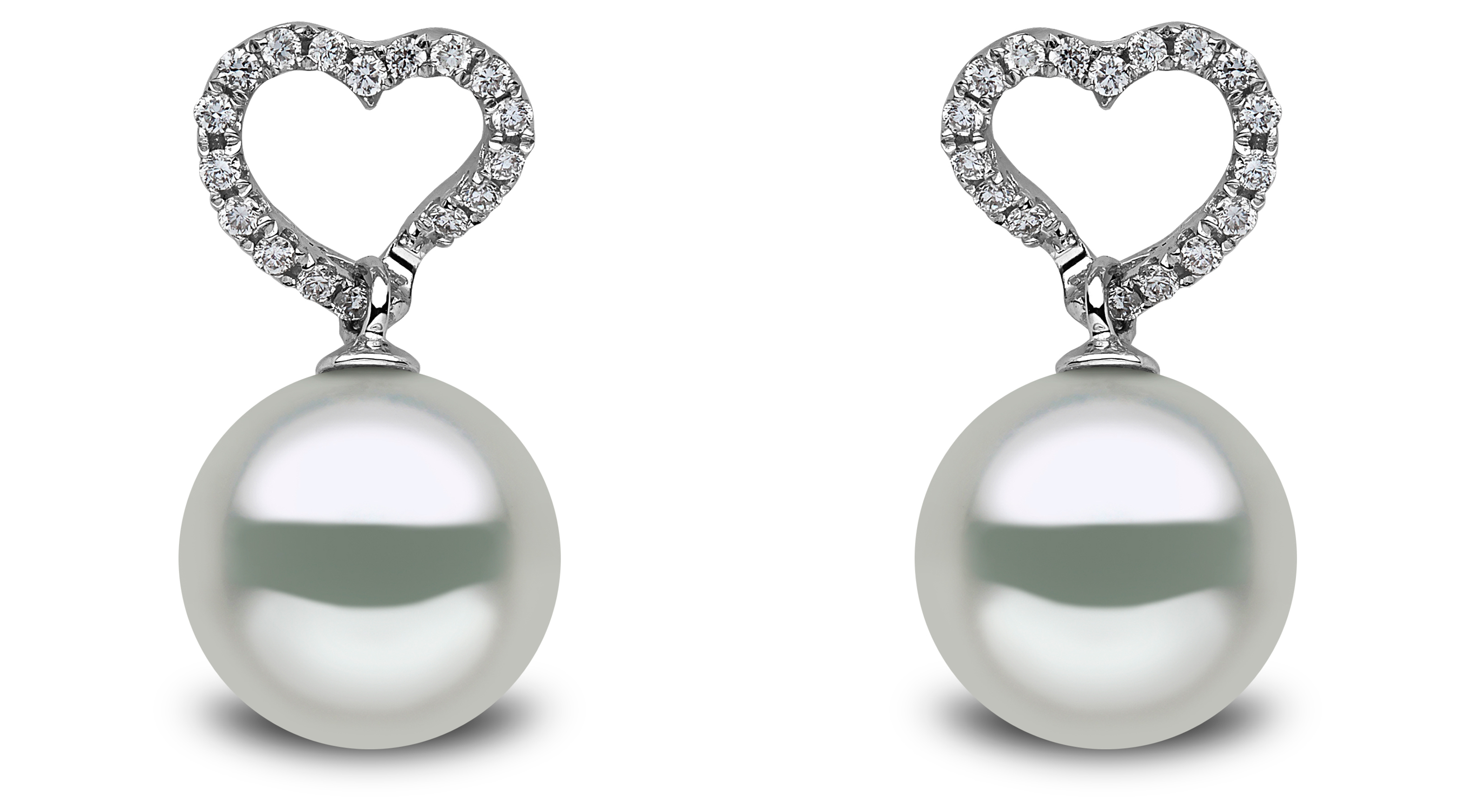 Yoko London South Sea pearl and diamond heart earrings | JCK On Your Market