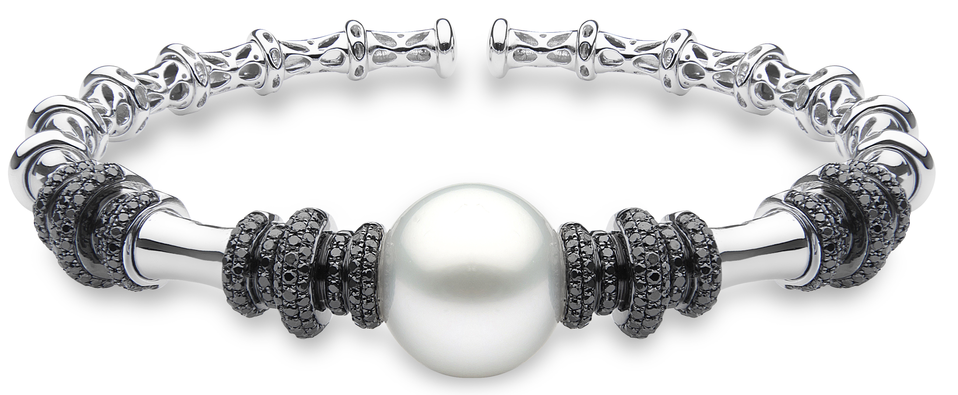Yoko London pearl and black diamond bangle | JCK On Your Market