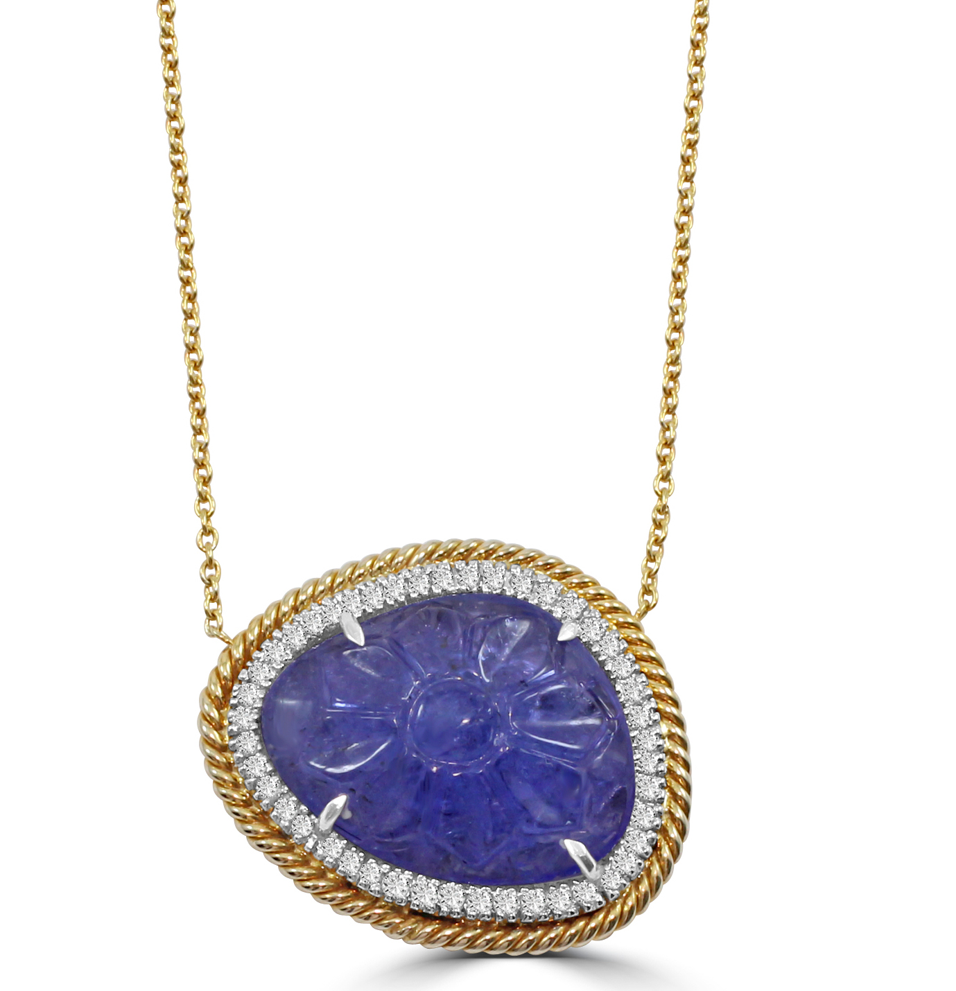 Vivaan carved tanzanite pendant | JCK On Your Market