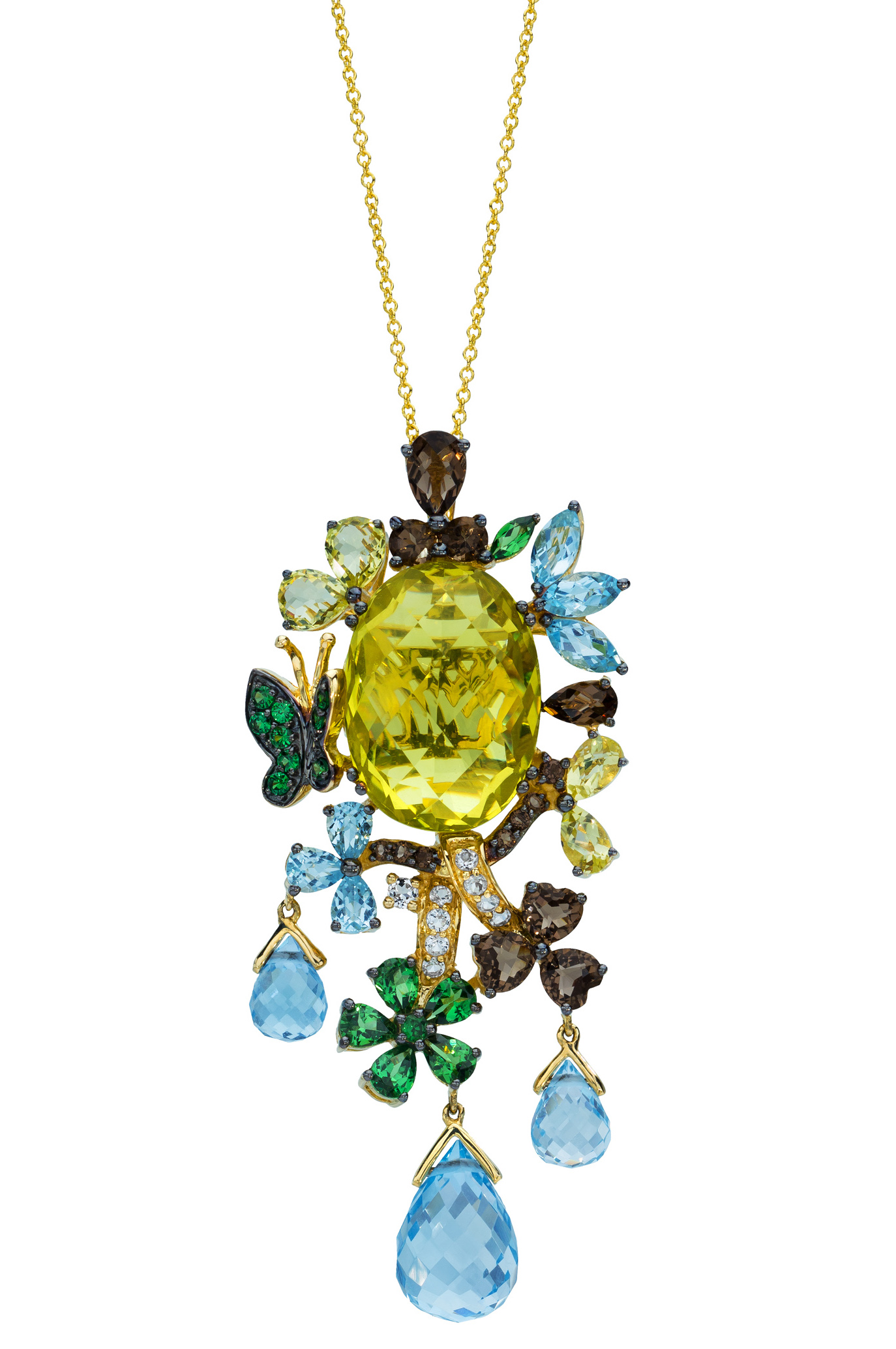 Le Vian Lemon Quartz butterfly pendant | JCK On Your Market