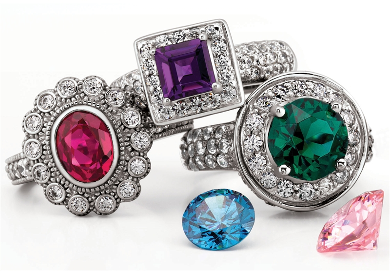 Unique Settings of NY colored gemstone ring collection